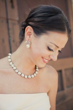 Get expert wedding planning advice and find the best ideas for wedding decorations, wedding flowers, wedding cakes, wedding songs, and more. Wedding Images, Wedding Designs, Unique Jewelry, Jewelry Design, Pretty Necklaces, Statement Necklaces, Angel Wing Earrings, Wedding Photo Inspiration, Wedding Hair And Makeup