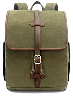 2f9fe523a3 Buy EverVanz Vintage Canvas School Hiking Casual Backpack Outdoor Backpack  for 12 to 15 amp quot