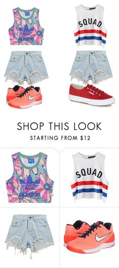"""""""basic oufits"""" by secret-marie ❤ liked on Polyvore featuring adidas Originals, Chicnova Fashion, NIKE and Superga"""