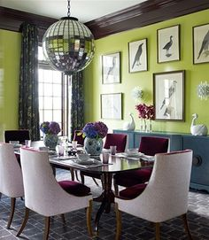 Love this fab dining room...  Katie Ridder Design and Decoration/Eric Paisecki