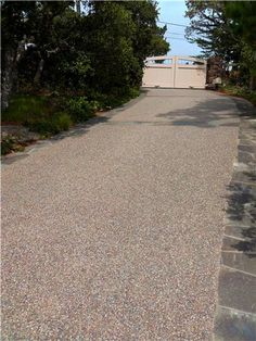 Driveway, Exposed Aggregate Driveway Landscaping Network Calimesa, CA