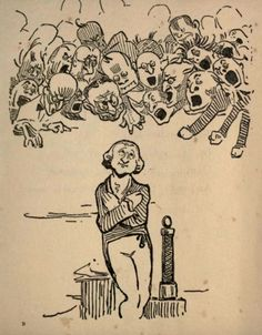 Sir Humphrey Davy - G. K. Chesterton's illustrations for 'Biography for Beginners' by E. C. Bentley