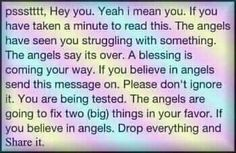 for you share if you believe in angles.