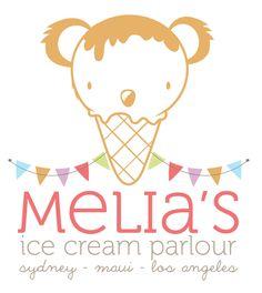 Melia*s Ice Cream Parlour |  Logo Design by Roxy Montoya, via Behance