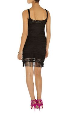 Outstanding Crochet: Karen Millen. Crochet Little Black Dress.