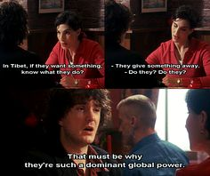 Black Books. Bernard Black, Fran. In Tibet, if they want something, know what they do? They give something away. Do they? Do they? That must be why they're such a dominant global power.