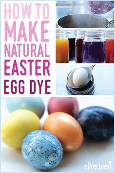 6 Natural Easter Egg Dyes