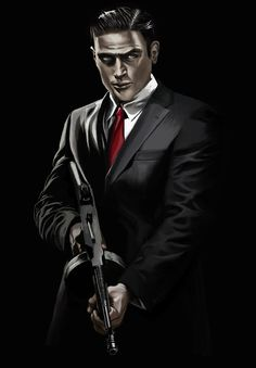 Mafia 2 Artwork | Vito from Mafia II game by kartjeeva