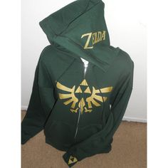 Green Legend of Zelda Zip Up Hoodie Adult ($55) ❤ liked on Polyvore featuring tops, hoodies, shirts, sweatshirts, grey, women's clothing, zip up hoodies, green zip up hoodie, grey zip up hoodie and hooded sweatshirt