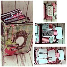 Diy Mini Album, Mini Albums Scrap, Mini Album Tutorial, Mini Scrapbook Albums, Album Maker, Book Maker, Paper Bag Scrapbook, Papel Scrapbook, Homemade Books