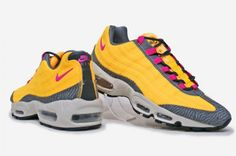 Nike Air Max 95 PRM Tape: Laser Orange/Pink Flash/Dark Grey