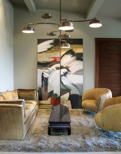 Light FIxture- Codor Design 72x18 plus ___ drop from ceiling.  I need to live with this. courtesy of LARA TAYLOR INTERIORS found at