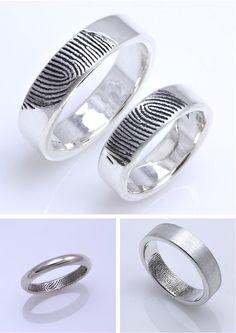fingerprint #wedding #rings