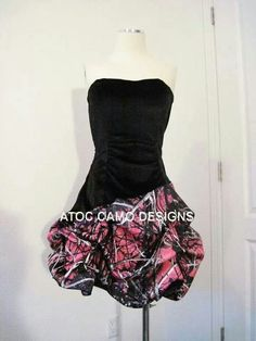 Back with Pink Camo Dress Camo Homecoming Dresses, Camo Wedding Dresses, Grad Dresses, Bridesmaid Dresses, Dance Dresses, Long Dresses, Bridesmaids, Formal Dresses, Sweet 16 Dresses