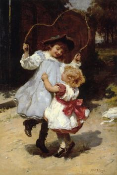 View Skipping by Frederick Morgan on artnet. Browse upcoming and past auction lots by Frederick Morgan. Illustrations Vintage, Illustration Art, Country Scenes, Victorian Art, Art Database, Deviant Art, Beautiful Paintings, Oeuvre D'art, Vintage Children