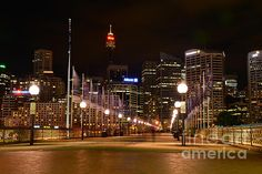 #FOOT #BRIDGE BY #NIGHT - #hdr #Photography Quality Prints & Cards at: http://kaye-menner.artistwebsites.com/featured/foot-bridge-by-night-kaye-menner.html  -
