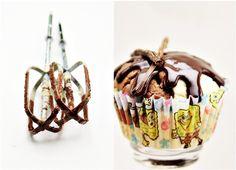 Triple vanilla choc cupcakes