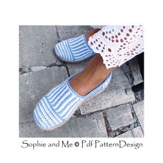 Ravelry: Canvas Stripe Slippers by Sophie and Me-Ingunn Santini