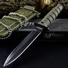 """6"""" COMBAT TACTICAL NECK KNIFE Survival Boot MILITARY BOWIE Fixed Blade  SHEATH"""
