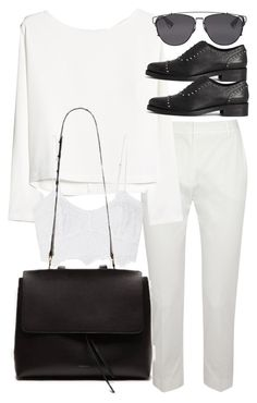 """""""Untitled #18953"""" by florencia95 ❤ liked on Polyvore featuring MaxMara, MANGO, AllSaints, Miguelina and Christian Dior"""