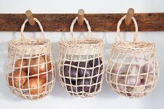 Home Decor Grey Sugar Tools Onion Basket.Home Decor Grey Sugar Tools Onion Basket Kitchen Pantry, Kitchen Decor, Shaker Kitchen, Kitchen Baskets, Family Kitchen, Kitchen Styling, Kitchen Interior, Deco Studio, Rattan Basket