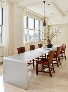 SoHo Penthouse by Neal Beckstedt Studio | 1stDibs Interior S, Interior Design, Soho Loft, Dining Room Design, Dining Rooms, Dining Tables, Dining Area, Dining Bench, Dining