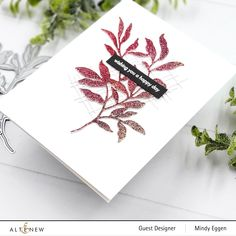 Altenew Cards, Leaf Cards, Standing Alone, Flower Cards, Happy Day, I Card, Giveaway, Paper Crafts, Creativity