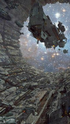 Fleet on the move, space opera / sci-fi inspiration