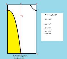 long sleeved kaftan dress tutorial