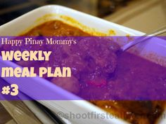 here is happy pinay mommy's Weekly Meal Plan that can help you with your shopping list and in planning what you will be serving your family this coming week. Weekly Menu Planning, Family Meal Planning, One Week Meal Plan, Meals For The Week, Easy Filipino Recipes, Quick Easy Meals, How To Plan, Dinner, Cooking