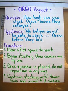 OREO Project- great way to integrate math, science, and art!