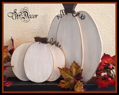 White Pumpkin, Thanksgiving decor, Wood Pumpkins Rustic Wood Pumpkin, Wooden Pumpkin, Freestanding set of 2 Fall Decor by JWDecor on Etsy https://www.etsy.com/listing/203843308/white-pumpkin-thanksgiving-decor-wood