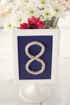 Nautical table numbers. Shot by Piteira Photography