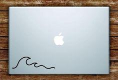 Wave Laptop Apple Macbook Car Quote Wall Decal Sticker Art Vinyl Beautiful Inspirational Wavy Surf Minimalist Indie Ocean Beach Travel