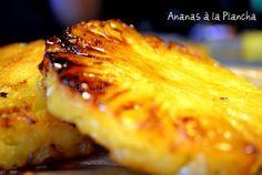 Recette plancha dessert à l'ananas caramélisé à la plancha
