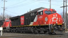 A CN anniversary unit & CN 3086 lead a southbound oil train. CN 3859 is the DPU. Trains, Canadian National Railway, West Chicago, Locomotive, Transportation, Scenery, Oil, Modern, Landscape