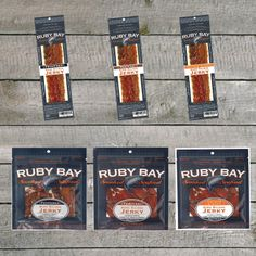 Salmon Jerky now available at rubybayjerky.com ! order any variety of the three flavors Smoked Salmon, Candy, Food, Eten, Candles, Meals, Candy Bars, Diet