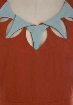 Patina on the Ritz Dress Chudithar Neck Designs, Neck Designs For Suits, Sleeves Designs For Dresses, Neckline Designs, Dress Neck Designs, Stylish Dress Designs, Salwar Suit Neck Designs, Saree Blouse Neck Designs, Kurta Neck Design