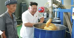 Reddit users Photoshopped images of North Korean leader Kim Jong-un visiting a lubricant factory.