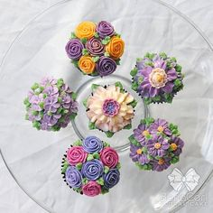 Floral Buttercream Cupcakes by BonaCeriCake on Etsy