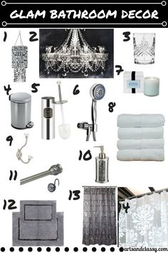 Glam Up Your Bathroom at www.artsandclassy.com