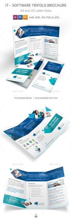 Corporate Business Trifold Brochures  Branding Inspiration