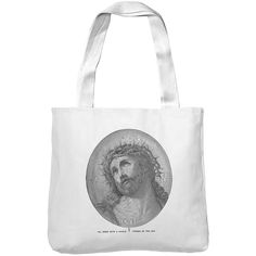 Mintage Single Line Jesus Christ Museum Tote Bag