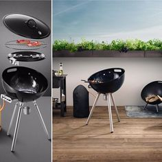 Eva Solo have released a Gas Grill to match their successful FireGlobe Fireplace.