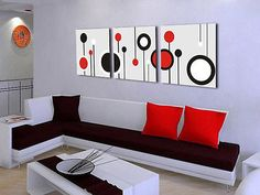 3Panels Modern Abstract Painting on canvas Picture Superb Wall Hanging Art 68 in Art, Art from Dealers & Resellers, Paintings | eBay