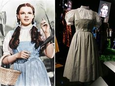 "BEVERLY HILLS, Calif. Julien's Auctions-- Judy Garland's blue pinafore she wore in ""The Wizard of Oz"" has sold for $480,000.  Steve McQueen's racing jacket sold for 50,000, as did a purple skirt worn by Marilyn Monroe while filming ""River of No Return"" in Canada. Julie Andrews' ""Sound of Music dress"" brought  38,400.  Sunglasses worn by Jean Reno in ""Leon"" went for 8,320, while Johnny Depp's shades fetched 3,250."