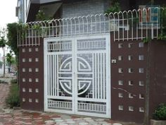 48 Steel Gate Design Idea is Perfect for Your Home - decortip Gate Wall Design, Grill Gate Design, Window Grill Design Modern, House Main Gates Design, Balcony Grill Design, Steel Gate Design, Front Gate Design, Door Design, House Design