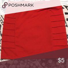 Skirt Orange/red pencil skirt Forever 21 Skirts Mini