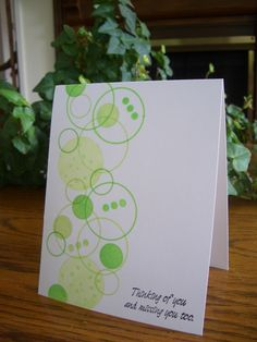 Green Missing You by stampin'nana - Cards and Paper Crafts at Splitcoaststampers