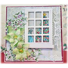 Winter Poinsettias project w/ Winters Eve collection from #HeartfeltCreations